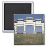 Gate, Ming Imperial Tombs, north of Beijing, China Fridge Magnet