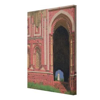 Gate Near Kutub-Minar, Old Delhi, 1875 Canvas Print