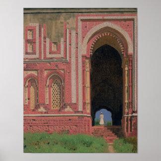 Gate Near Kutub-Minar, Old Delhi, 1875 Poster