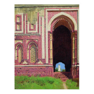 Gate near the Qutub Minar. Old Delhi by Vasily Postcard