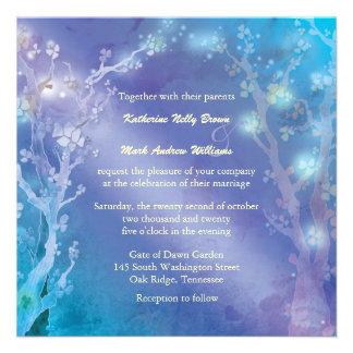 Gate of Dawn Blue Tree Theme Winter Wedding Invite