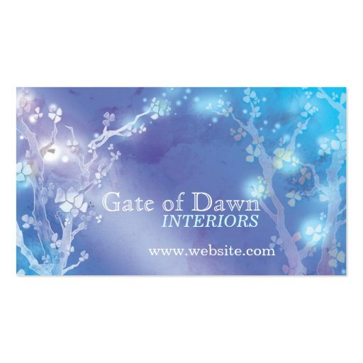 """""""Gate of Dawn"""" Jewel Floral Trees Interior Design Business Card"""