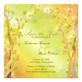 Gate of Dawn Tree Themed Wedding Save the Date Custom Invitation