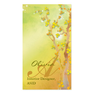 Gate of Dawn Trees Monogram Business Cards
