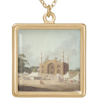 Gate of the Tomb of the Emperor Akbar (1542-1605), Gold Plated Necklace