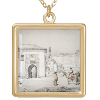 Gate of the Vine (Puerta del Vino), from 'Sketches Gold Plated Necklace