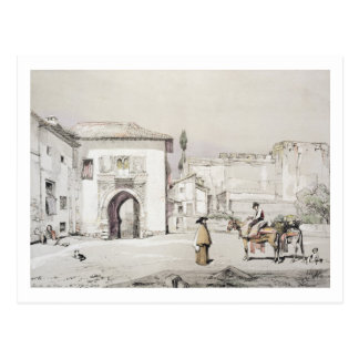 Gate of the Vine (Puerta del Vino), from 'Sketches Postcard
