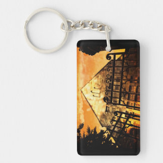 gate to house Double-Sided rectangular acrylic keychain