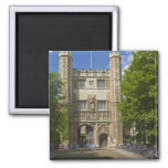 Gate to Trinity College and rows of bicycles, 2 Inch Square Magnet