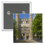 Gate to Trinity College and rows of bicycles, 2 Inch Square Button