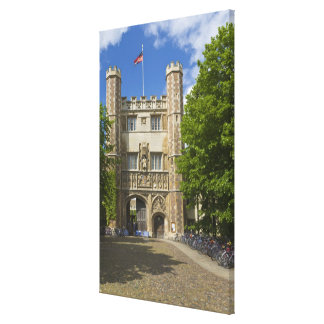 Gate to Trinity College and rows of bicycles Canvas Prints