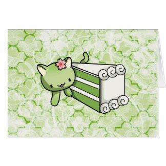 Gateau Matcha Kitty Card
