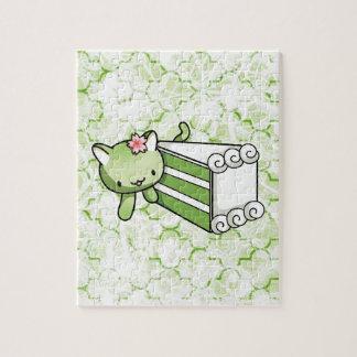 Gateau Matcha Kitty Puzzles