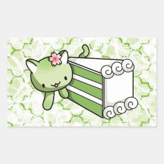 Gateau Matcha Kitty Rectangular Sticker