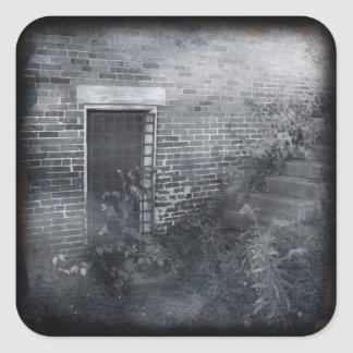Gated Door - Daguerreotype Square Sticker