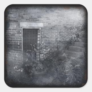 Gated Door - Daguerreotype Square Sticker