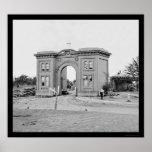 Gatehouse del cementerio en Gettysburg 1863 Impresiones