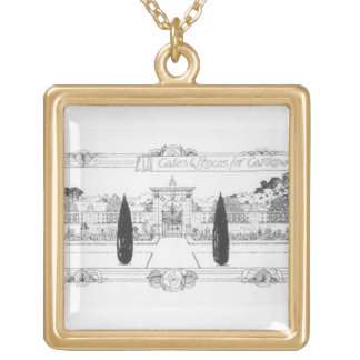 Gates and fences for garden and park, from 'The Ar Gold Plated Necklace
