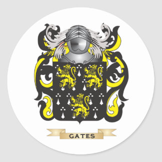 Gates Coat of Arms (Family Crest) Round Stickers