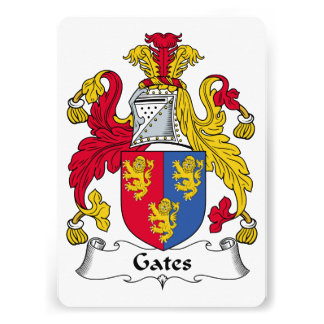 Gates Family Crest Personalized Announcements