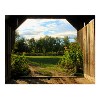Gates Farm Covered Bridge Cambridge VT Postcard