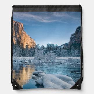 Gates in Yosemite Drawstring Backpacks