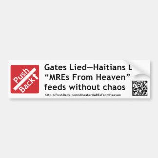 Gates Lied—Haitians Died BumperSticker Bumper Sticker
