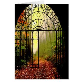 Gates of Autumn Card
