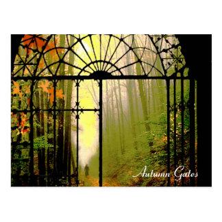 Gates of Autumn Postcard