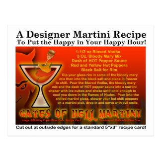 Gates of Hell Halloween Martini Recipe Postcard