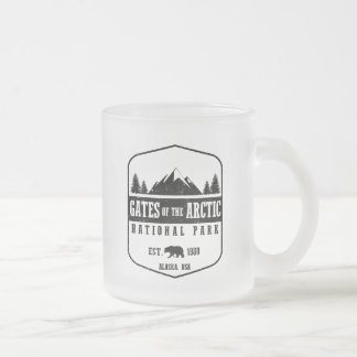 Gates of the Arctic National Park Frosted Glass Coffee Mug