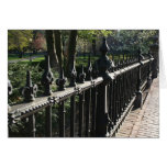 Gates on the Public Garden Greeting Card