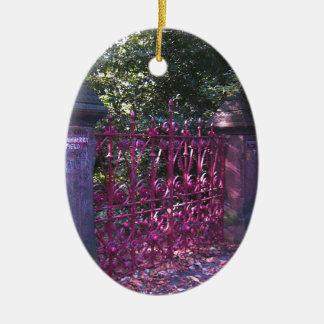 Gates to Strawberry Fields Liverpool Ceramic Ornament