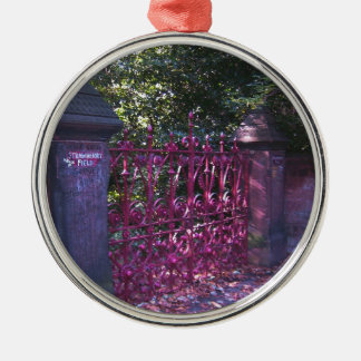 Gates to Strawberry Fields Liverpool Metal Ornament