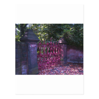 Gates to Strawberry Fields Liverpool Postcards