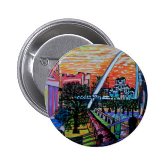 Gateshead Millennium Bridge from Newcastle Pinback Buttons
