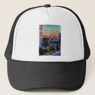 Gateshead Millennium Bridge from Newcastle Trucker Hat