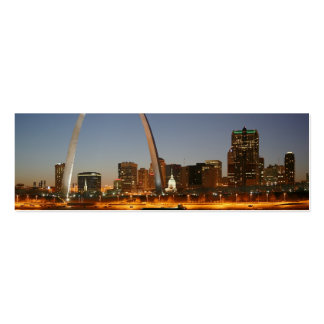 Gateway Arch St. Louis Mississippi at Night Double-Sided Mini Business Cards (Pack Of 20)