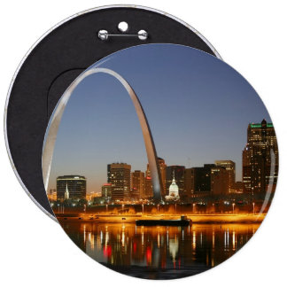 Gateway Arch St. Louis Mississippi at Night Pin