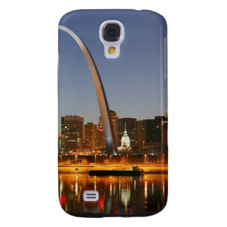 Gateway Arch St. Louis Mississippi at Night Galaxy S4 Cases