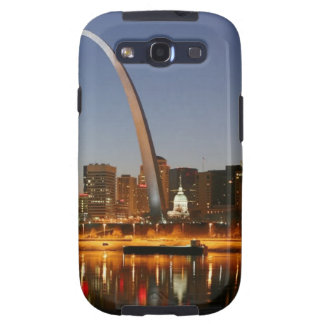 Gateway Arch St. Louis Mississippi at Night Galaxy SIII Cases