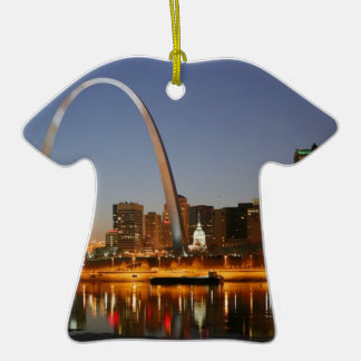 Gateway Arch St. Louis Mississippi at Night Ceramic Ornament