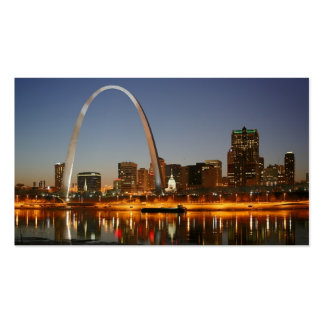 Gateway Arch St. Louis Mississippi at Night Double-Sided Standard Business Cards (Pack Of 100)