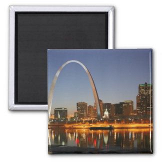 Gateway Arch St Louis Mississippi at Night Magnet