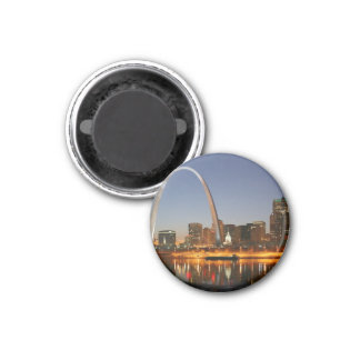 Gateway Arch St Louis Mississippi at Night Refrigerator Magnet