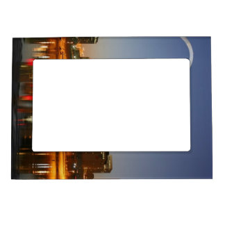 Gateway Arch St. Louis Mississippi at Night Magnetic Photo Frame