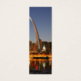 Gateway Arch St. Louis Mississippi at Night Mini Business Card