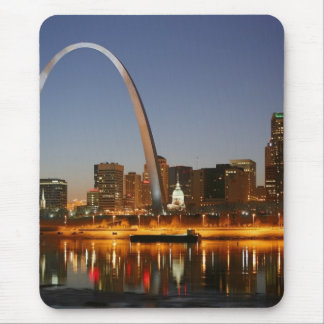 Gateway Arch St. Louis Mississippi at Night Mouse Pad