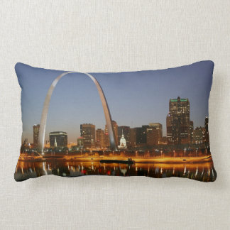 Gateway Arch St. Louis Mississippi at Night Pillow