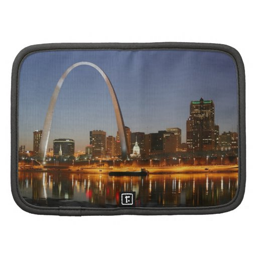 Gateway Arch St. Louis Mississippi at Night Organizers